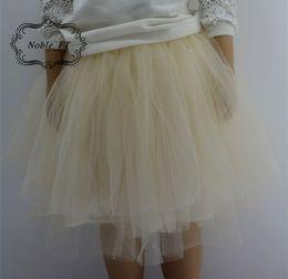 Faldas para las muchachas de los niños en venta-Primavera ahora falda de la princesa Niños de las muchachas de las muchachas de múltiples capas de la falda del tutón de los cabritos dulce TODOS Los colores de la falda 4 del fósforo A5793