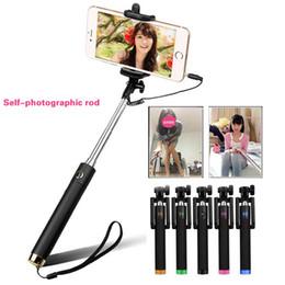 The new retractable folding wired Selfi self Selfie stick tripod Samsung Galaxy S5 Note 3 iPhone65S Perche Selfies Selfiepod DHL free shippi