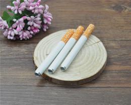 Wholesale Portable Aluminum Cigarette Shape Smoking Pipe shisha hookah bong herb grinder rolling machine rolling paper supplier bruce shop