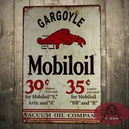 Wholesale Mobiloil oil Mobiloil Gargoyle Tin Metal Sign Decor Gas Oil Car Automobile