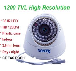 CMOS 1200TVL cctv cámara cámara domo 36 leds 3.6mm / 6mm lente buena visión nocturna de plástico de vivienda para uso en interiores desde noche carcasa de la cámara de visión proveedores