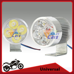 Wholesale Lights For Track Bikes - Silver 12W LED Headlight Spot Light white DC12V For Motorcycle Dirt bike ATV UTV Bicycle Car Truck Boat order<$18no track