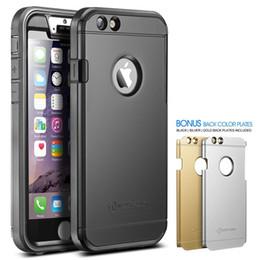 """Acheter en ligne Plaque d'écran-Nouveau Trent Trentium robuste de protection durable pour iPhone 6s Case 4.7 """"écran, Noir Argent plaques d'or iPhone 6 6S Plus"""