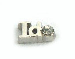 20PCS lot Crystal I DO DIY Alloy Letter Floating Locket Charms Fit For Magnetic Memory Glass Living Locket
