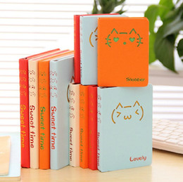 Wholesale TOP Cute Lovely Cats Giraffe Notebook Colorful Kawaii Book with Lined Paper for kids Creative Gifts