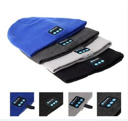 35PCS hot sale 12 colors Headset Speaker Wireless Microphone for cap Bluetooth Music Hat warm Beanie Cap with Stereo Headphone D460