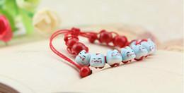 Wholesale 9 color cat bracelet diy lucky men women Geometric cartoon color cat bracelet bracelet Fortune Cat hot sale