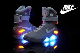 Wholesale NIKE Air Mag Shoes LED Light Charging Shoes Mens Marty McFly Cheap Best Basketball Shoes Mens Luxury Elite Limited Running Shoes Grey Balck