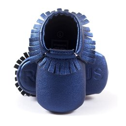 Wholesale Baby Girls Moccasin Leather Infant Shoes Toddler First Walkers Soft Comfortable Children's Shoe Fringe Handmade