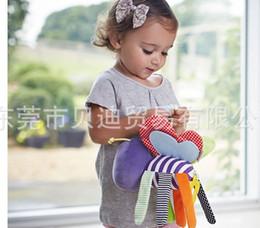 2017 juguete educativo de abeja envío al por mayor-libre de DHL 50pcs / lot Mamas & Papas Abejas campanas cuelgan, con los dientes, juguetes educativos del bebé juguete educativo de abeja en venta