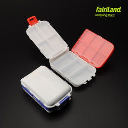 2pcs Lot Foldable mini 4.1in*2.7in fishing hook box 13 compartments portable hook holder lightweighted fishing tackle box Storage Case