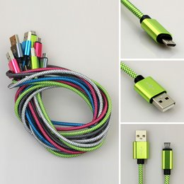 Wholesale Braided Cable I Micro USB Sync Data Charging M FT Aluminum Cord for Samsung for HTC Blackberry Universal up