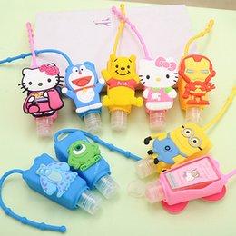 Wholesale bath and body works holder cartoon fashion hello kitty Doraemon waterless silicone antibacterial gel holder hand sanitizer ML