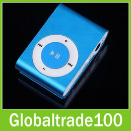 Wholesale Mini Clip Mp3 Music Player Without Screen Support Micro TF Card Earphone USB Cable Retail box Free DHL Shipping