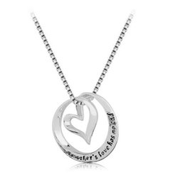 Wholesale Silver Plated A Mother s love have no end Pendant Alloy Necklace Fashion Jewelrys Fit For Mothers Day Gift