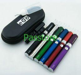MT3 EVOD Starter Kit Zipper Case Package Electronic Cigarette 650mAh 900mAh 1100mAh Battery MT3 Atomizer Vaporizer Clearomizer 50pcs