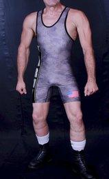 Wholesale Special Design Custom Service Swimwear US Army Digicamo Wrestling Singlet Leotards Uniform Weightlifting Outfit Soldier Suit