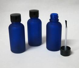 wholesale 30ml Blue Glass Brush Bottle, 30ml Blue Glass Bottle, Blue Essetial Oil Bottle, Serum Brush