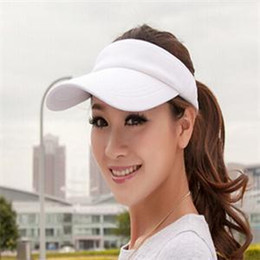 2014 Fashion New Adjustable Golf Tennis Sports Plain Men Women Sun Visor Hats Colors Beach Sun Caps free shipping