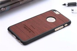 Wholesale Luxury Wood Wooden Pattern Case for Apple iPhone Inch Hard Plastic PC Cover Back for iPhone6