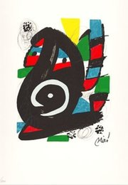 Wholesale LA MELODIE ACIDE XI Joan Miro Painting for sale canvas art High quality Hand painted