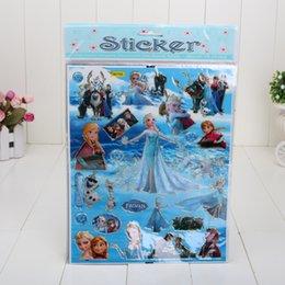 Wholesale 15pcs Kids Cute Cartoon Frozen Sticker Decoration Wall Stickers flat Stikers Plan Sticker