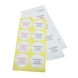 38mm round THANK YOU round shopping gift or good package self adhesive sticker label