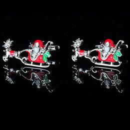 Free Shipping Christmas Gifts Series- Santa Claus Cufflink- Fashion Cufflink