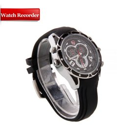 Wholesale Hidden HD Watch Camera p Spy Watch Delta Tech Infrared Night Vision Camera DVR Video Audio IR LED camera