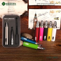 New e-cigarette GS EGO II MEGA KIT eGo II 2200mAh vaporizer kit with GS H2S dual coil atomizer ego battery DHL free shipment