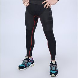 Wholesale-2015 Sports compression trousers fitness pant male sports running clycling bike bicycle pants tight bottom