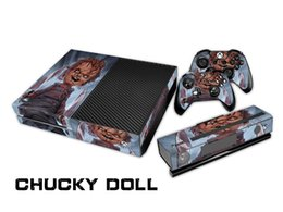 Chucky Doll 0075 Fashion Skin Decal For Xbox one Console and 2PCS Xbox one Controller Skins Stickers