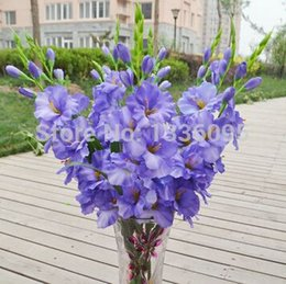 Wholesale Single simulation colors silk artificial plant orchid flower arranging art for sitting room adornment direction TH016