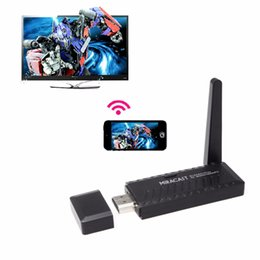 Wholesale Miracast Wifi Display Dongle Receiver Full HD P HDMI Wireless IPUSH Air Play Player DLNA for Android iOS Windows