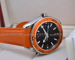 Hot sale mechanical automatic stainless watches orange bezel orange rubber strap brand watch mens wristwatch 021