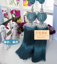 Wholesale Curtain tie ball straps tying pendants hanging Sui grade fine lob curtain air curtain hanging ball diamond tendon