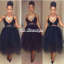 Wholesale Cheap Puffy Ball Gown Pencil Tulle Skirts For Women Plus Size High Waist Tea Length Custom Made Tutu Little Black Dresses