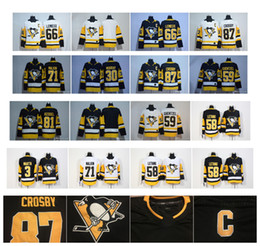 2018 Season 87 Sidney Crosby Kris Letang 66 Mario Lemieux Evgeni Malkin 81 Phil Kessel 30 Murray Guentzel Pittsburgh Penguins Hockey Jerseys