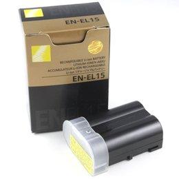 Wholesale xEN EL15 Battery EN EL15 For Nikon D600 D610 D600E D800 D800E D810 D7000 D7100 V1 HIGH QUALITY NO TAX SHIP VIA DHL