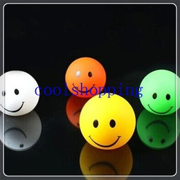 DHL Freeshipping 216pcs 4cm rubber color changing led flashing bouncy ball led flashing smile face led light ball