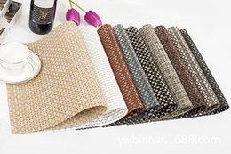 Wholesale PVC Placemats Textilene placemat cm cm colors home party placemat hotel placemat simple and elegant placemat Drop Shipping
