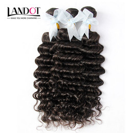 4Pcs Lot 8-30Inch Indian Virgin Hair Deep Wave Grade 6A Unprocessed Indian Curly Remy Human Hair Weave Natural Color Extensions Double Wefts