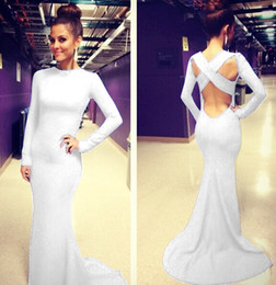 Wholesale Sexy Cocktail Bandage Dresses - New 2014 Europe Womens Sexy Cocktail Bandage Dress Long Sleeve Club Party Formal Evening Wedding Gown Ball Prom Dresses