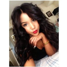 Wholesale Long Half Wig Human Hair - 7A body wave virgin remy lace wigs human hair glueless full lace wig for black women