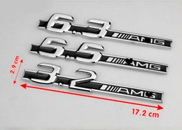 Free shipping high quality new 10pcs lot metal car stickers car accessories FOR Mercedes AMG c63 5.5 6.3 6.5 3.2 E63 CLS63