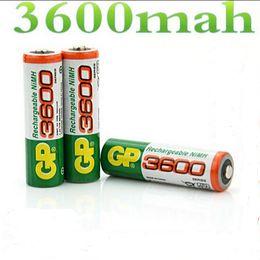 Wholesale Brand New riginal GP V NiMh AA mAh Battery Rechargeable AA Batteries pilas recargables free drop shipping