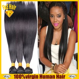 Remy Brazilian virgin hair weave silky straight pure human hair extension natural color 3 4pcs lot mixed length queen hair products