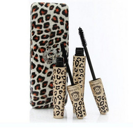 Wholesale Fashion Professional Black Leopard Print Love Alpha Mascara eyelashes Thick Lengthening Makeup Eyelashes Mascara Brand Waterproof Set