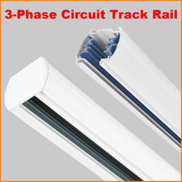 Wholesale DHL M Phase Circuit Wires Tracks Aluminium LED Track Light Rail Lighting Spot light Track Systems Global track base Meter Black White