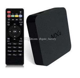 Wholesale Original Online Update MXQ TV BOX Amlogic S805 Quad Core Android Airplay TV Channels Programs Media Player Rooted In Stock Freeshiping